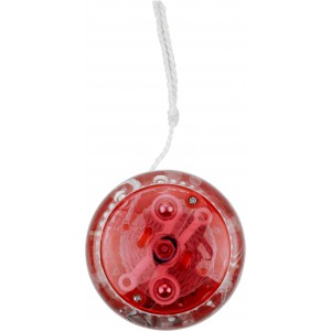Műanyag világító jojó, piros